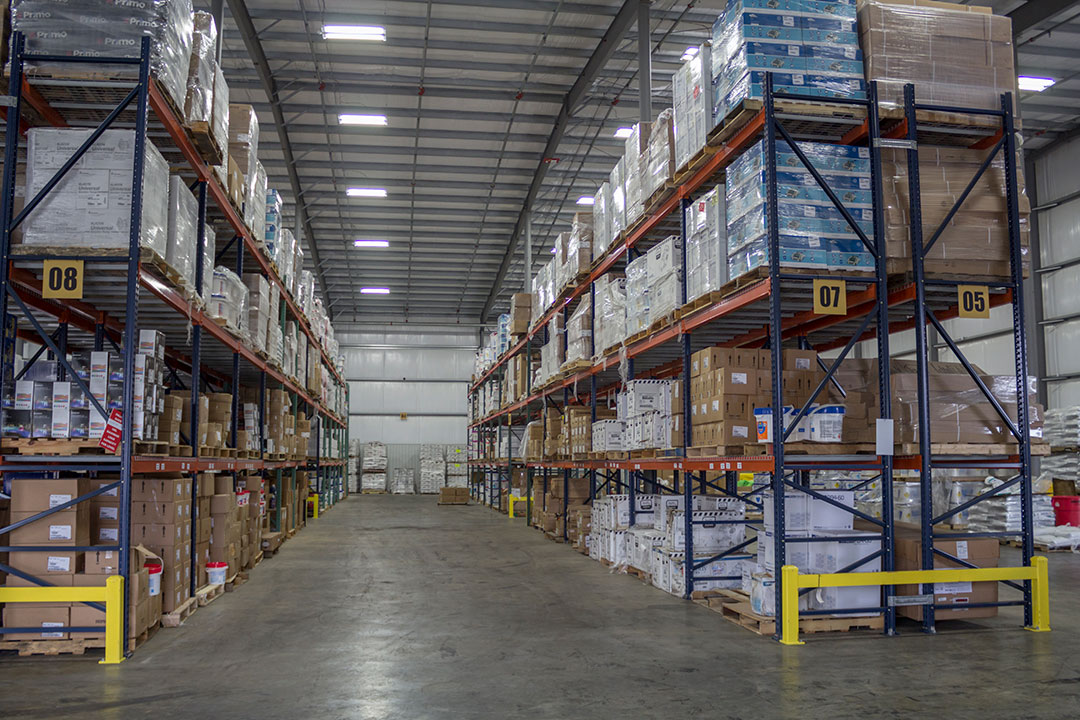 Inside Poolcorp Branch Warehouse